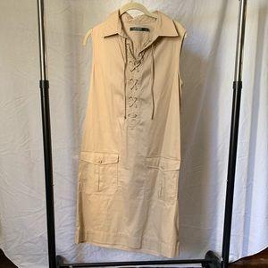 Ralph Lauren Khaki Sleeveless dress/jumper